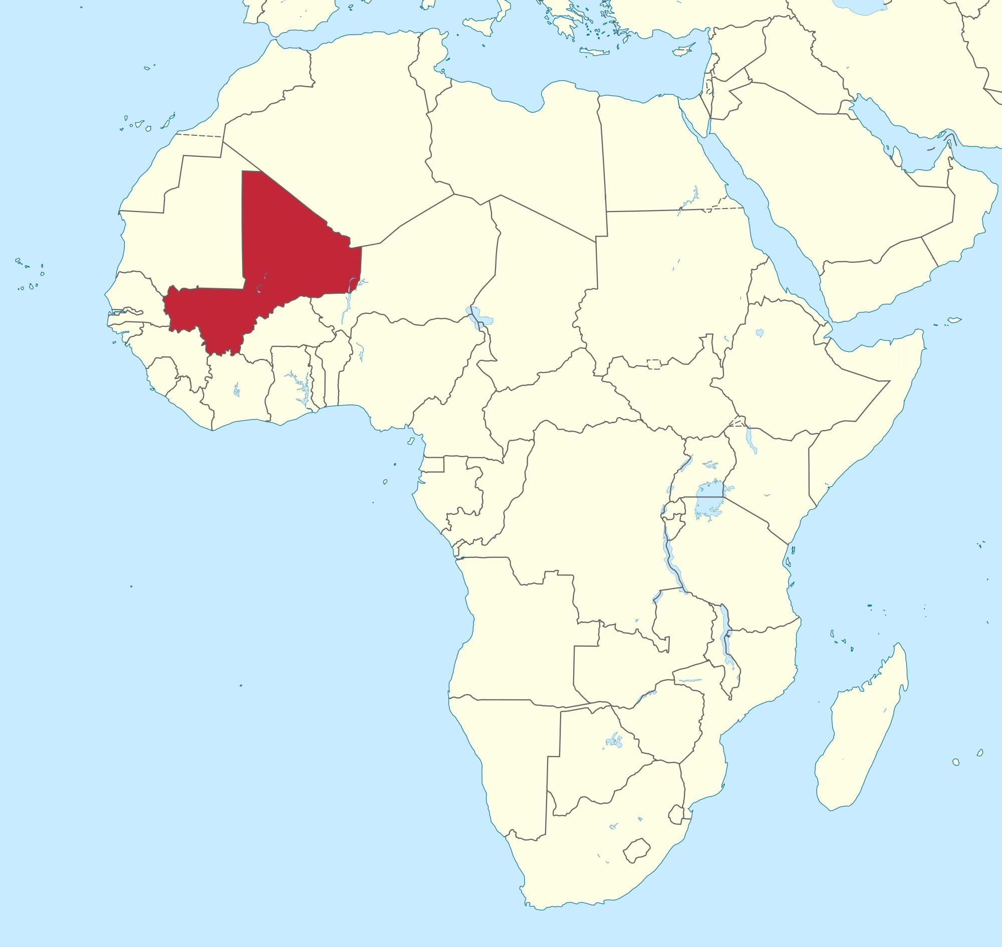 Mali Auf Der Weltkarte Anzeigen Mali Position Auf Der Weltkarte