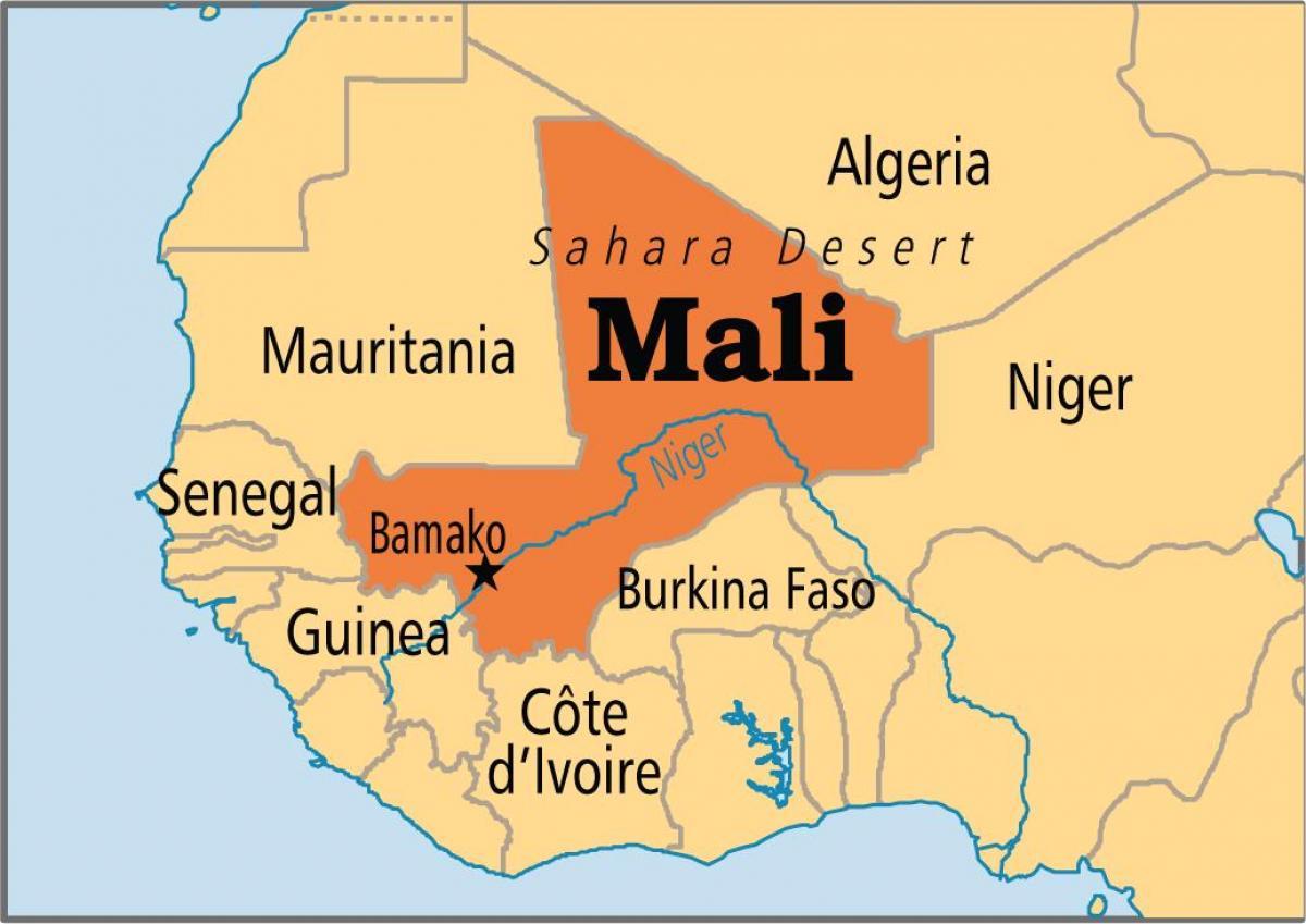 Bamako, Mali Karte - Karte von bamako, Mali (West-Afrika ...